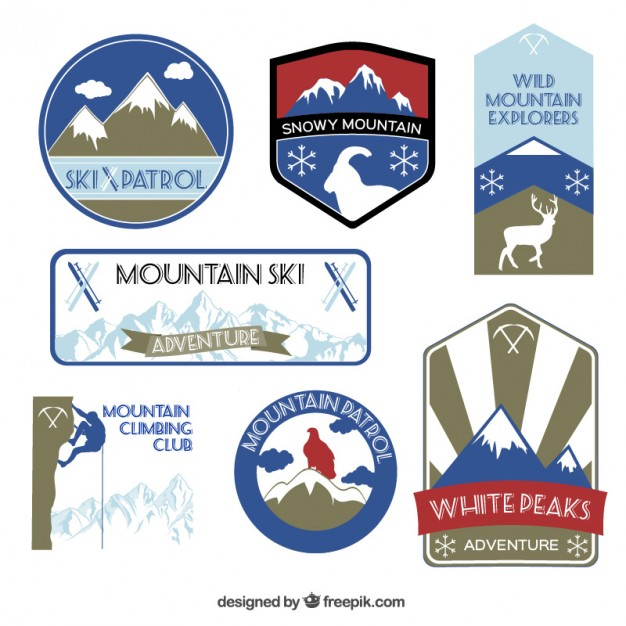 Mountain Labels Free Vector