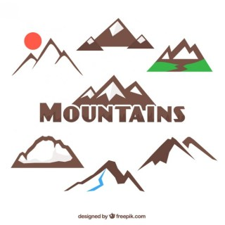 Mountains Collection Free Vector