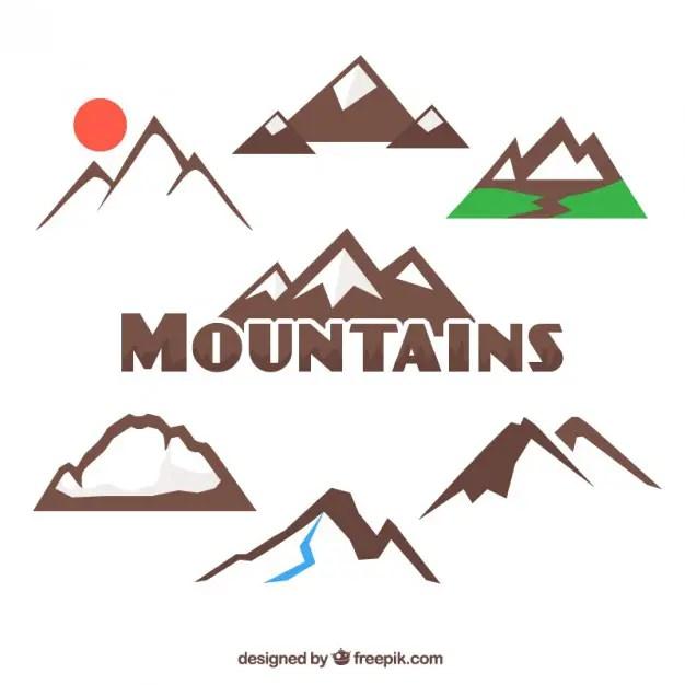 Mountains Collection Free Vector