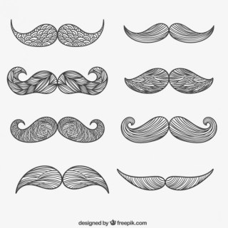 Moustache Hand Drawn Free Vector