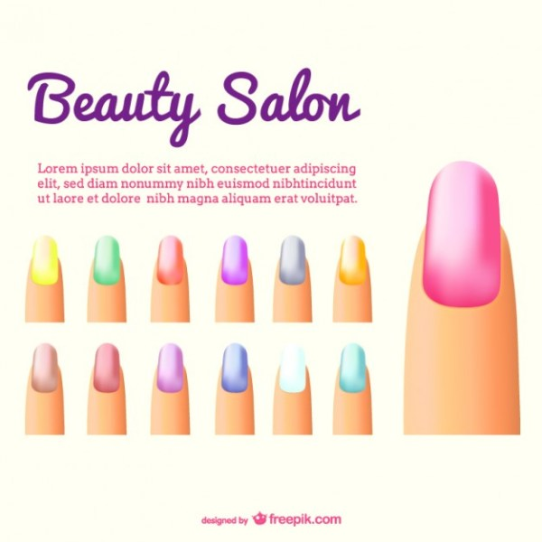 Nails Color Free Vector
