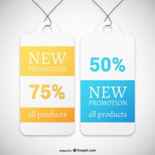 New Promotion Tags Free Vector