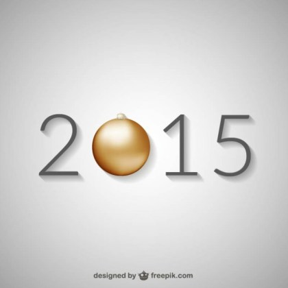 New Year 2015 Free Vector