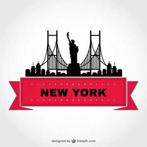 New York Skyline Template Free Vector