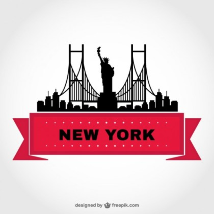 New York Skyline Template Free Vector