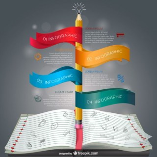 Notebook Education Infographics Free Vector