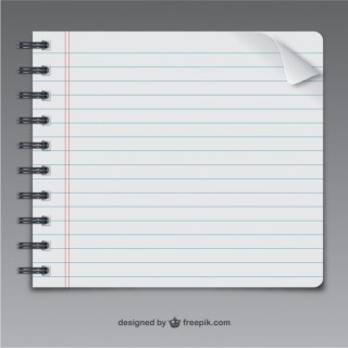Notebook Page Free Vector
