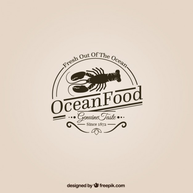 Ocean Food Logo Free Vector