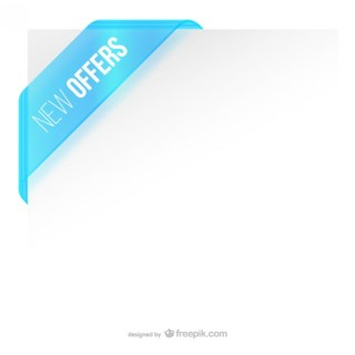 Offer Corner Label Free Vector