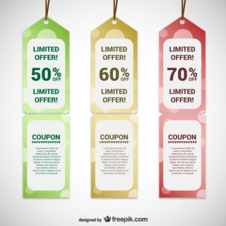 Offer Tags Templates Free Vector