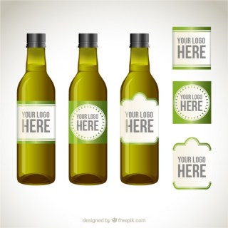 Olive Oil Bottle Labels Free Vector
