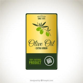 Olive Oil Label Free Vector