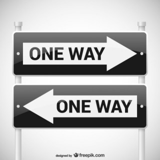 One Way Signs Free Vector