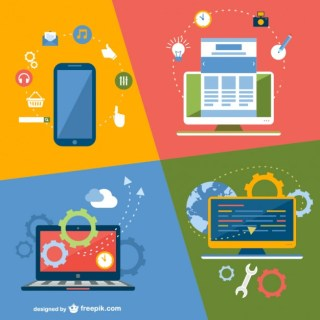 Online Application Technology Devices Free Vector