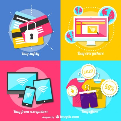Online Shopping Free Vector