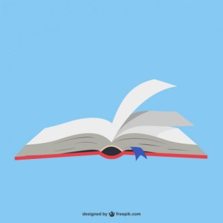 Open Book in Blue Background Free Vector