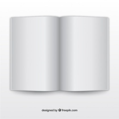 Open Book Realistic Template Free Vector