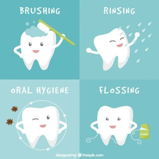 Oral Hygiene Banners Free Vector