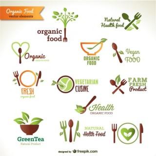 Organic Food Logos Free Vector