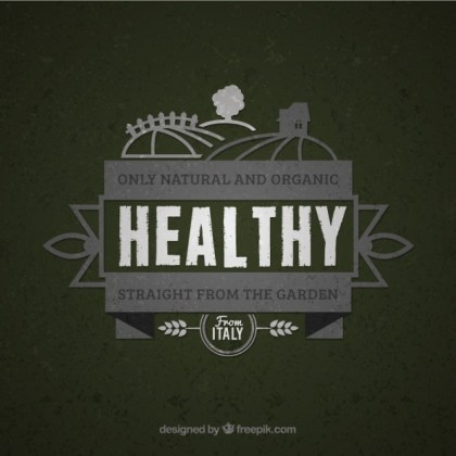 Organic Product Vintage Badge Free Vector