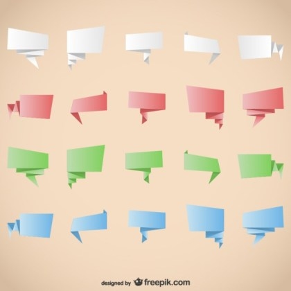 Origami Graphic Elements Free Vector