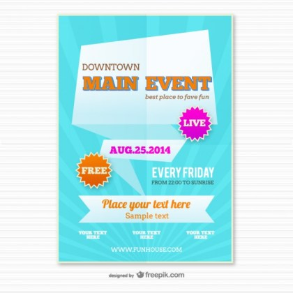 Origami Poster Template Free Vector