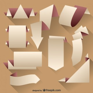 Origami Tags Set Free Vector