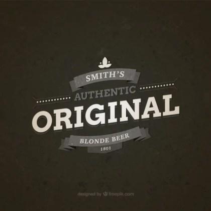 Original Blonde Beer Badge Free Vector