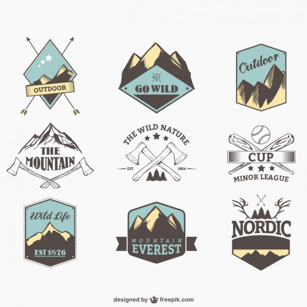Outdoor Sports Badges Free Vector