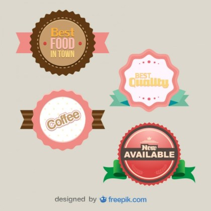 Pack of Awards Labels Free Vector