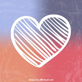 Painted Heart Free Vector