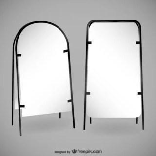 Pair of Blank Billboards Free Vector