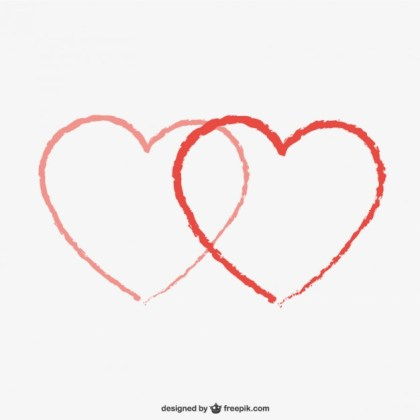 Pair of Hearts Free Vector