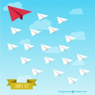 Paper Airplanes Illustration Free Vector