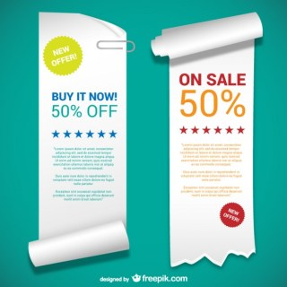 Paper Banner Templates Free Vector