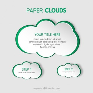 Paper Clouds Templates Free Vector