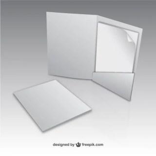 Paper Folder Mock Up Free Vector
