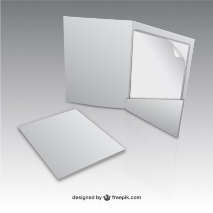 Paper Folder Mock Up Free Vector