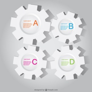 Paper Gear Infographics Free Vector