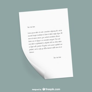 Paper Letter Template Free Vector