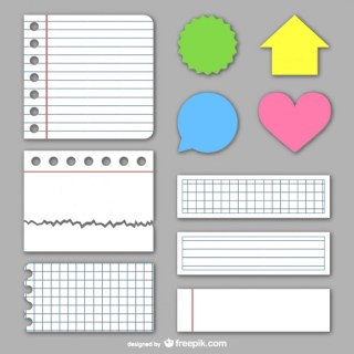 Paper Textures and Stickers Free Vector