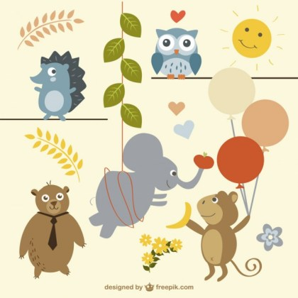 Party Animals Free Vector