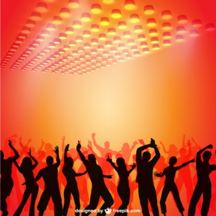 Party People Background Free Vector