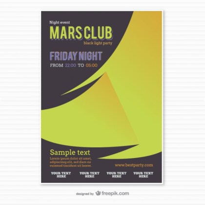 Party Poster Template Origami Style Free Vector