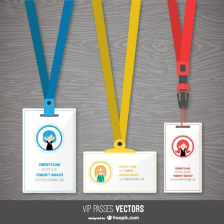 Pass Templates Pack Free Vector