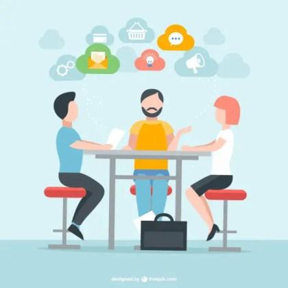 People in Meeting Free Vector
