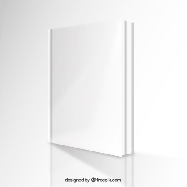 Perspective Blank Book Mockup Free Vector