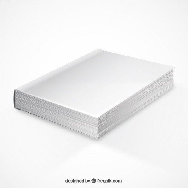 Perspective Book Mockup Free Vector