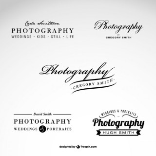 Photography Business Logo Set Free Vector