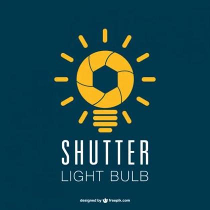 Photography Shutter Lightbulb Logo Free Vector